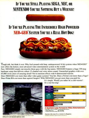 The Neo Geo ad that first grabbed my attention, leading to a brief (if lingering) obsession.
