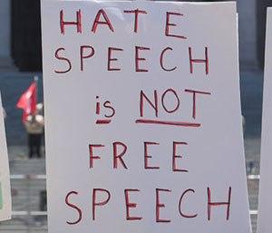 HateSpeechIsNotFreeSpeechPoster